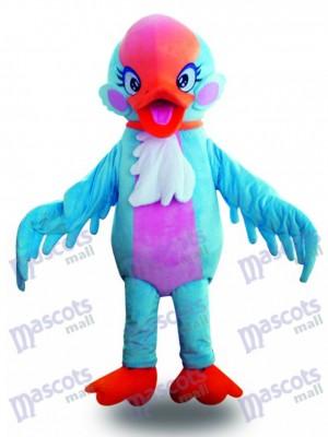 Pájaro Cisne Azul Cabeza Roja Disfraz de mascota Animal
