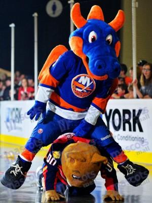 Sparky el Continuar para los habitantes de Nueva York Disfraz de mascota animal