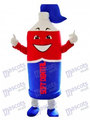 Pasta de dientes roja y azul Disfraz de mascota Dibujos animados