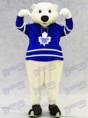 Carlton el oso de Toronto hojas de arce Oso polar Disfraz de mascota animal