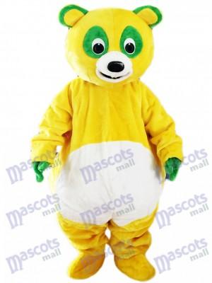 Oso amarillo con ojos verdes Disfraz de mascota Animal