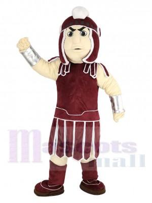 Caballero de Troya espartano rojo oscuro Sparty Disfraz de mascota