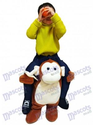 Mono a cuestas Llévame Seguir adelante Mono marrón con plátano para niño Disfraz de mascota