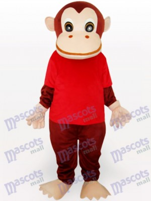 Gorila en camiseta roja Disfraz de mascota Animal