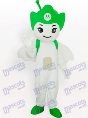 Fiesta de Moto Angel Verde Disfraz de mascota