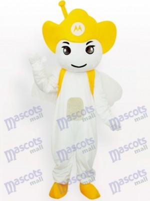 Fiesta de Moto Angel Amarillo Disfraz de mascota