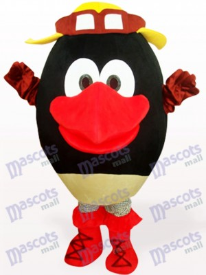 Peluche Muñeca Cabeza Redonda Negra Disfraz de mascota