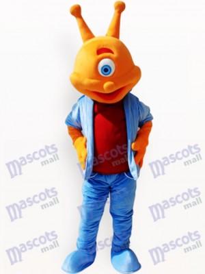 Alien Extraterrestre con cabeza naranja Disfraz de mascota