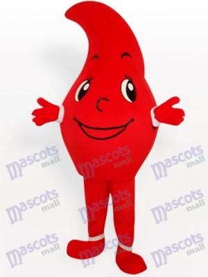 Gota de agua roja Disfraz de mascota Fiesta