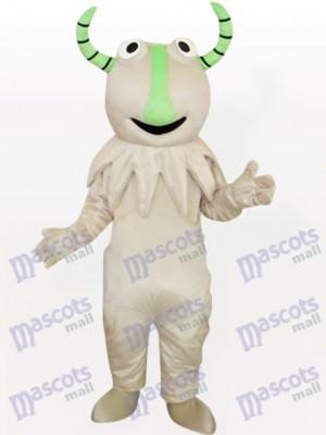 Monstruo gris con nariz verde Disfraz de mascota