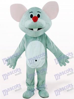 Ratón gris con nariz roja Disfraz de mascota