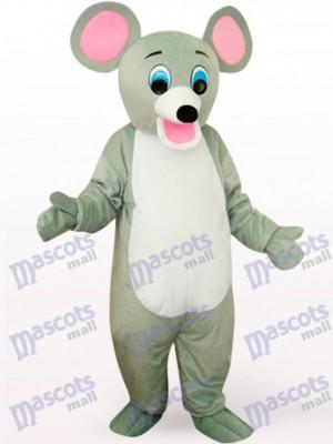 Animal Ratón Gris Sonriente Disfraz de mascota
