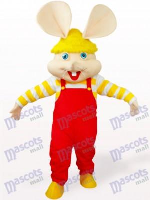 Ratón con mono rojo Disfraz de mascota Animal