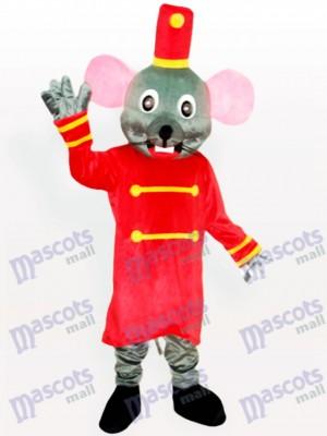 Ratón gris el portero Disfraz de mascota Animal