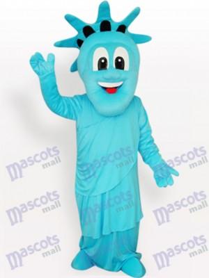 Azul Estatua de la Libertad Disfraz de mascota