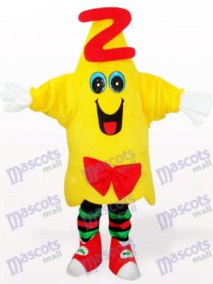 Doctor estrella amarilla Dibujos animados Disfraz de mascota