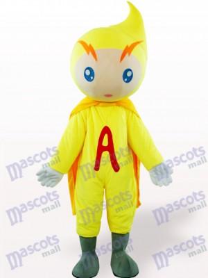 Volt-amperio amarillo Dibujos animados Disfraz de mascota