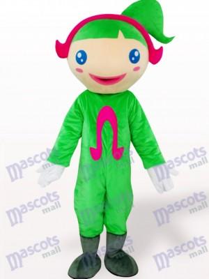 Ohm verde Dibujos animados Disfraz de mascota