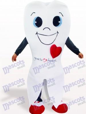 Diente blanco Dibujos animados Disfraz de mascota