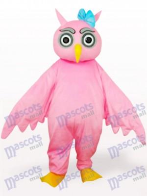 Búho rosa Animal adulto Disfraz de mascota