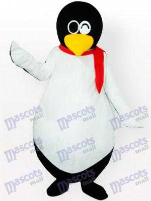 Pingüino lindo con bufanda roja Disfraz de mascota