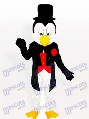 Sr.Pingüino con esmoquin y bombín Disfraz de mascota