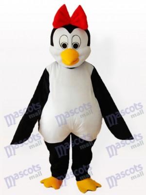 Sra. Pingüino con lazo rojo Disfraz de mascota