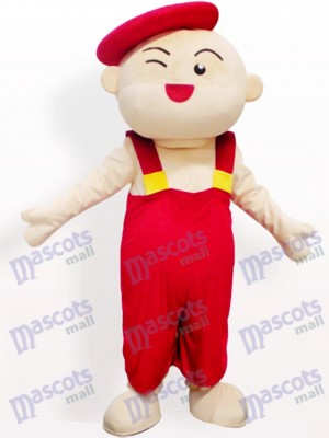 Chico sombrero rojo Disfraz de mascota