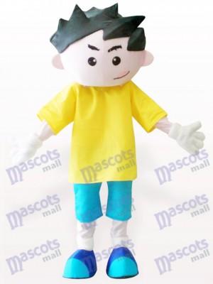 Chico en ropa amarilla Disfraz de mascota