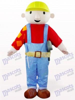Bab trabajador de mantenimiento en abrigo rojo Disfraz de mascota