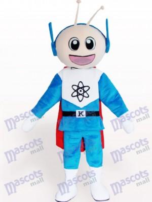 Super hombre de dibujos animados Disfraz de mascota