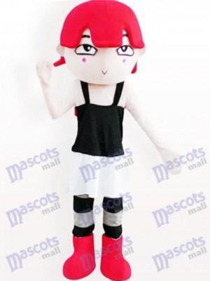 Chica pelirroja Disfraz de mascota Dibujos animados