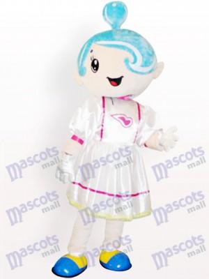 Música Chica con Sombrero Azul Disfraz de mascota
