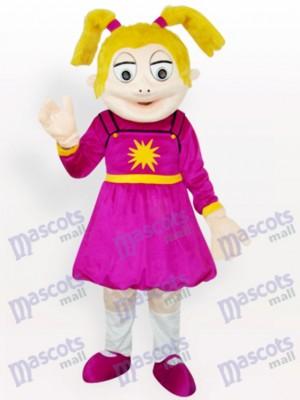 Niña riendo Disfraz de mascota Dibujos animados