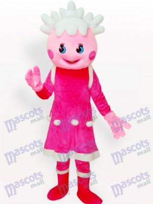 Dibujos animados de princesa rosa Disfraz de mascota