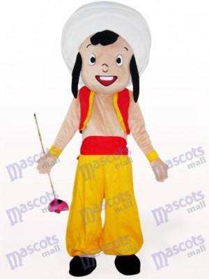Chico árabe amarillo Disfraz de mascota