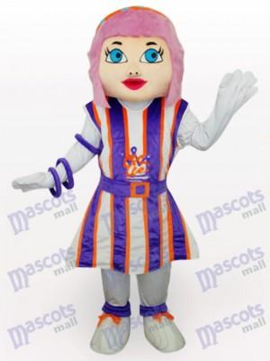 Chica De Cabello Morado Disfraz de mascota