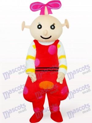 Anime rojo femenino Beibei Disfraz de mascota
