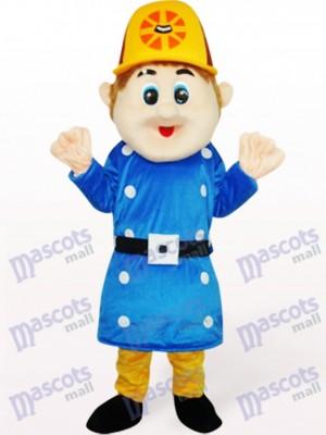Sam trabajador azul Disfraz de mascota