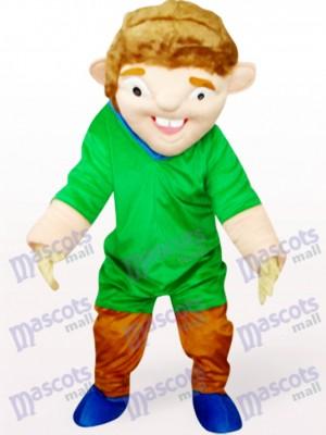 Hombre extraño en abrigo verde Disfraz de mascota