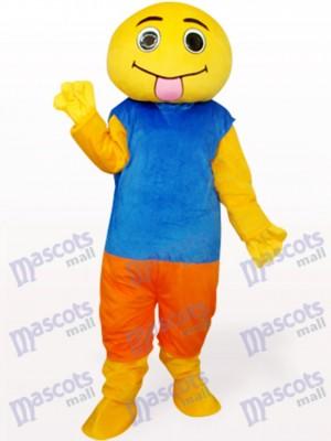 Muñeca marrón y azul Disfraz de mascota