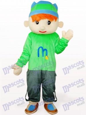 Chico Doudou en abrigo verde Disfraz de mascota