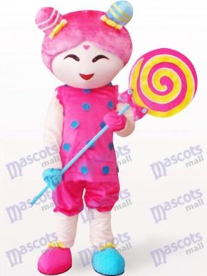 Chica de caramelo rosa Disfraz de mascota