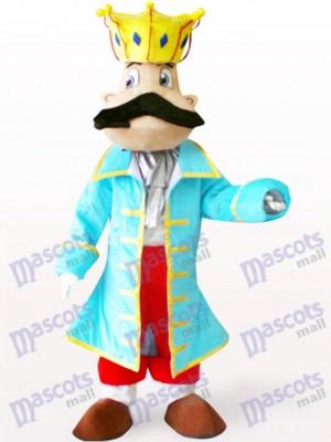 Rey en abrigo azul Disfraz de mascota