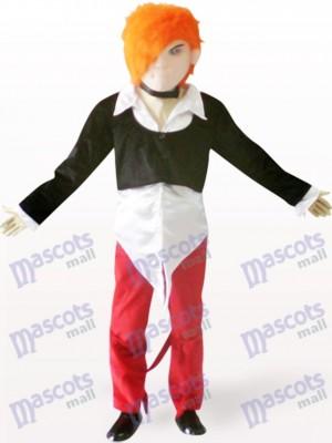 Chico guapo con cabello naranja Disfraz de mascota
