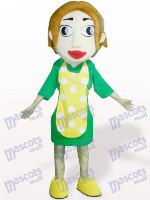 Mujer con delantal amarillo Disfraz de mascota