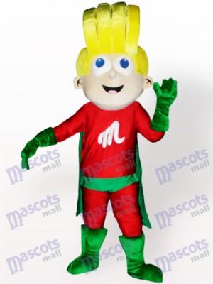 Super chico Disfraz de mascota Dibujos animados