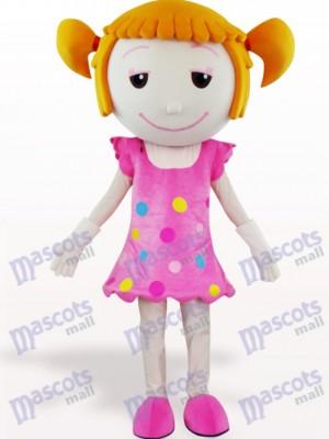 Chica De Cabello Sólido Disfraz de mascota