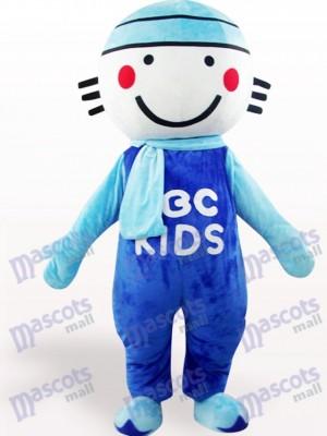 Muñeca Cabeza Redonda Azul Disfraz de mascota