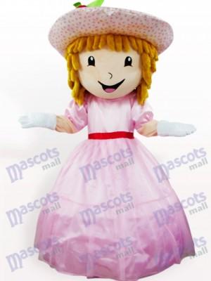 Tarta de Fresa Rosada Niña Disfraz de mascota